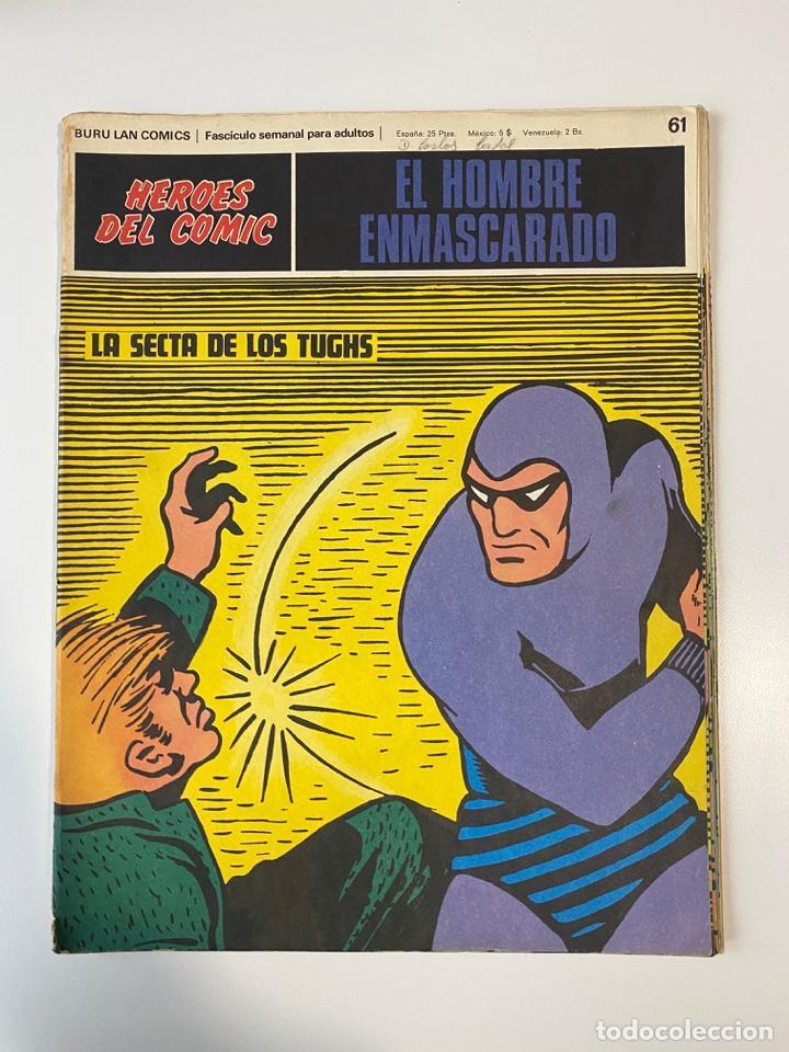 EL HOMBRE ENMASCARADO.BURU LAN COMICS.SOLO LAS PORTADAS.TOMO 6.FASCÍCULOS DEL Nº 62 AL 72.VER FOTOS (Tebeos y Comics - Buru-Lan - Hombre Enmascarado)