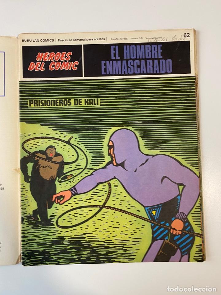 Cómics: EL HOMBRE ENMASCARADO.BURU LAN COMICS.SOLO LAS PORTADAS.TOMO 6.FASCÍCULOS DEL Nº 62 AL 72.VER FOTOS - Foto 3 - 235290170
