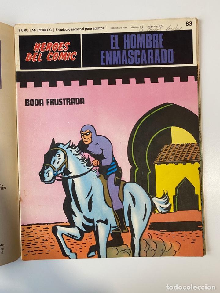 Cómics: EL HOMBRE ENMASCARADO.BURU LAN COMICS.SOLO LAS PORTADAS.TOMO 6.FASCÍCULOS DEL Nº 62 AL 72.VER FOTOS - Foto 4 - 235290170