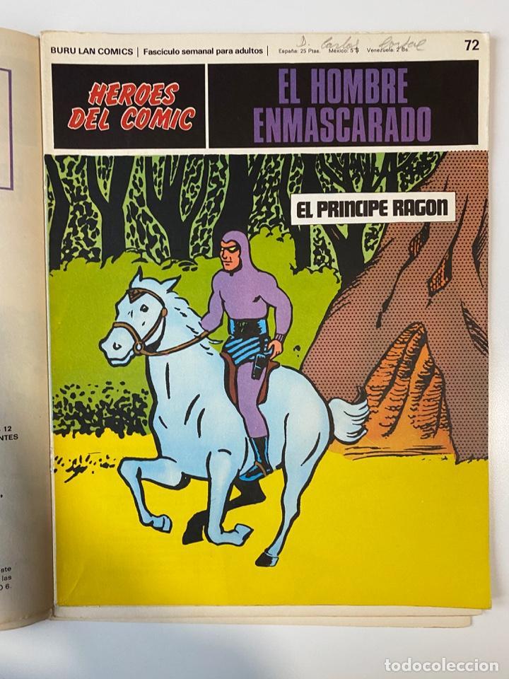 Cómics: EL HOMBRE ENMASCARADO.BURU LAN COMICS.SOLO LAS PORTADAS.TOMO 6.FASCÍCULOS DEL Nº 62 AL 72.VER FOTOS - Foto 13 - 235290170