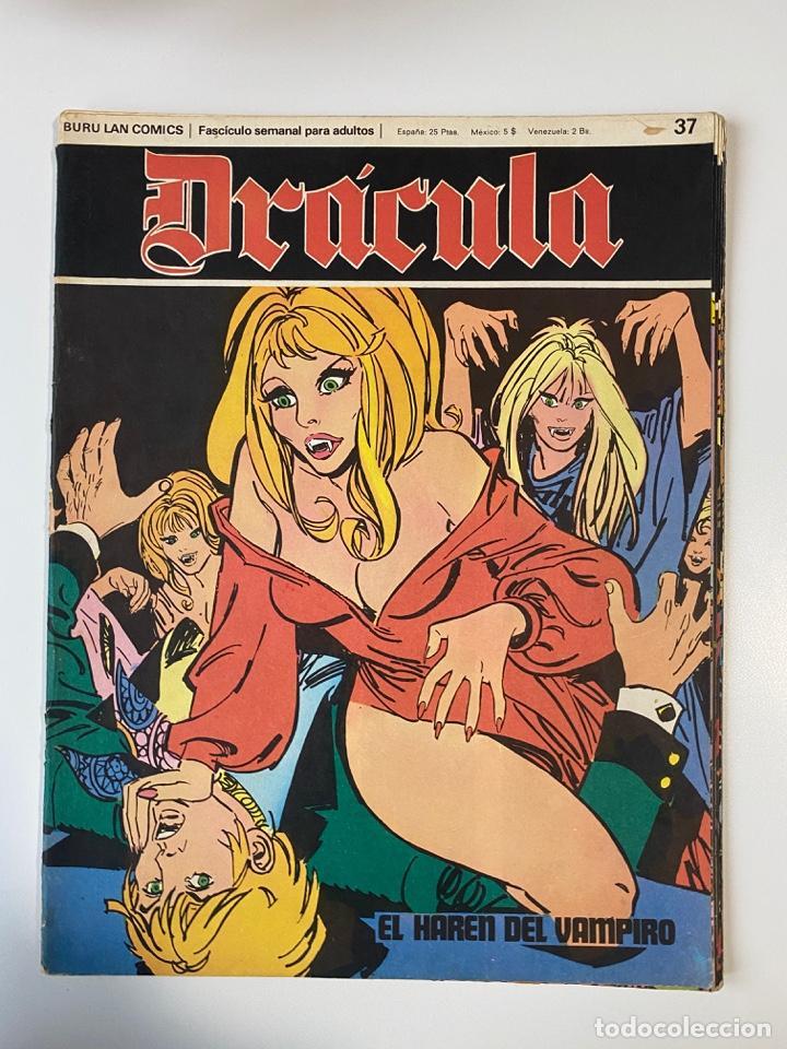 DRÁCULA. BURU LAN COMICS. SOLO LAS PORTADAS. TOMO 5. FASCÍCULOS DEL Nº 37 AL 48. VER FOTOS (Tebeos y Comics - Buru-Lan - Drácula)