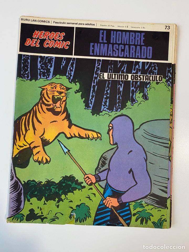EL HOMBRE ENMASCARADO.BURU LAN COMICS.SOLO LAS PORTADAS.TOMO 7.FASCÍCULOS DEL Nº 73 AL 84. VER FOTOS (Tebeos y Comics - Buru-Lan - Hombre Enmascarado)