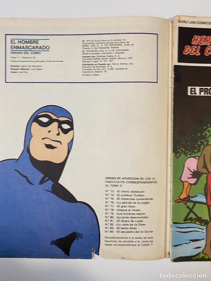 Cómics: EL HOMBRE ENMASCARADO.BURU LAN COMICS.SOLO LAS PORTADAS.TOMO 7.FASCÍCULOS DEL Nº 73 AL 84. VER FOTOS - Foto 2 - 235291515