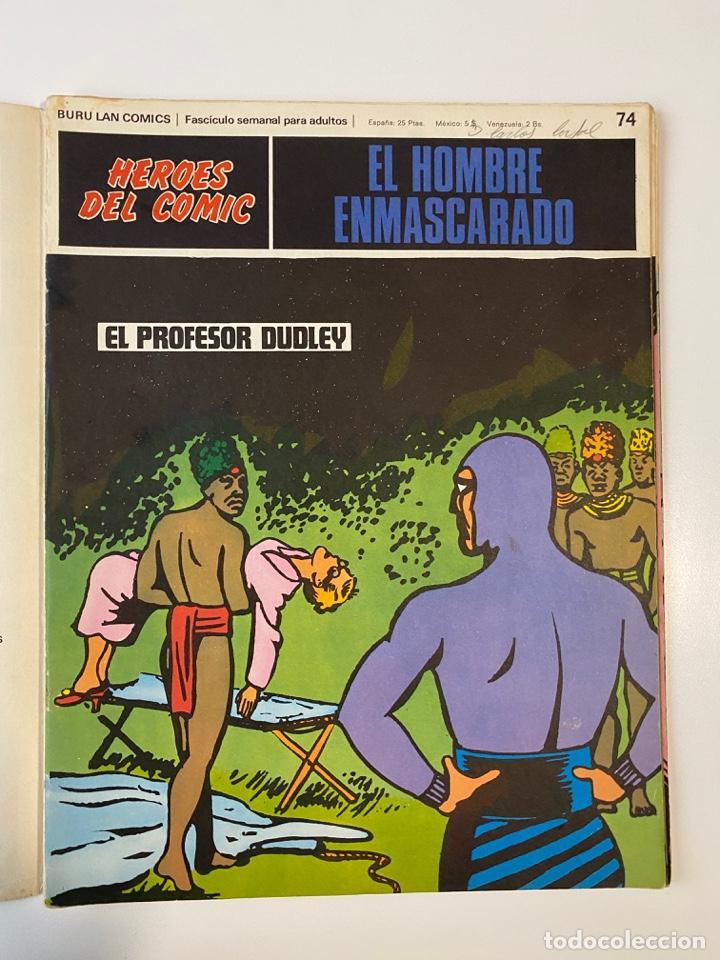 Cómics: EL HOMBRE ENMASCARADO.BURU LAN COMICS.SOLO LAS PORTADAS.TOMO 7.FASCÍCULOS DEL Nº 73 AL 84. VER FOTOS - Foto 3 - 235291515