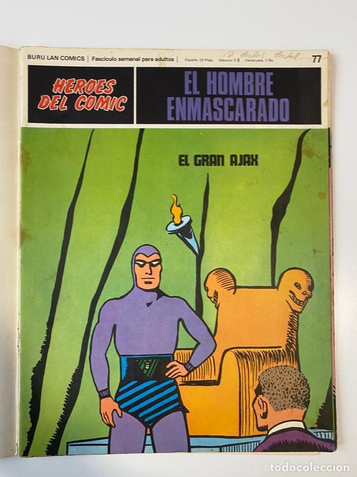 Cómics: EL HOMBRE ENMASCARADO.BURU LAN COMICS.SOLO LAS PORTADAS.TOMO 7.FASCÍCULOS DEL Nº 73 AL 84. VER FOTOS - Foto 6 - 235291515