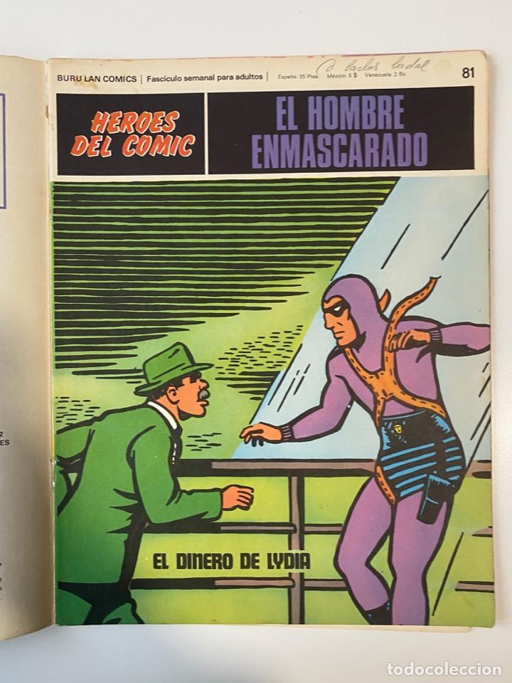 Cómics: EL HOMBRE ENMASCARADO.BURU LAN COMICS.SOLO LAS PORTADAS.TOMO 7.FASCÍCULOS DEL Nº 73 AL 84. VER FOTOS - Foto 10 - 235291515