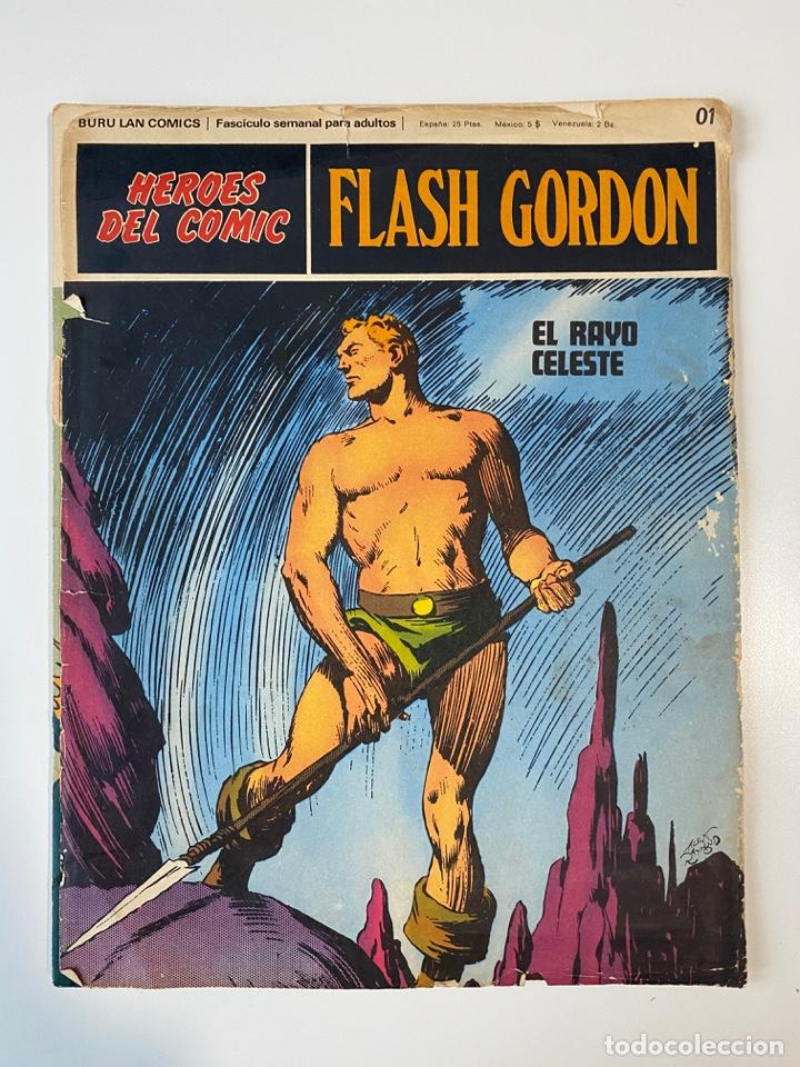 FLASH GORDON. BURU LAN COMICS. SOLO LAS PORTADAS. TOMO 1. FASCÍCULOS DEL Nº 01 AL 010. VER FOTOS (Tebeos y Comics - Buru-Lan - Flash Gordon)