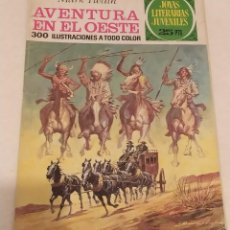 Cómics: JOYAS LITERARIAS JUVENILES Nº 58 AVENTURA EN EL OESTE- MARK TWAIN- BRUGUERA AÑO 1976. Lote 237191395