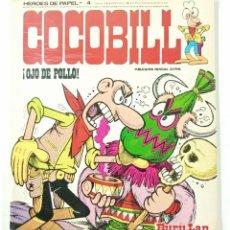 Cómics: COCOBILL N° 4 OJO DE POLLO - HÉROES DE PAPEL - JACOVITTI - BURULAN - 40 PAGINAS COLOR 1973. Lote 241984130