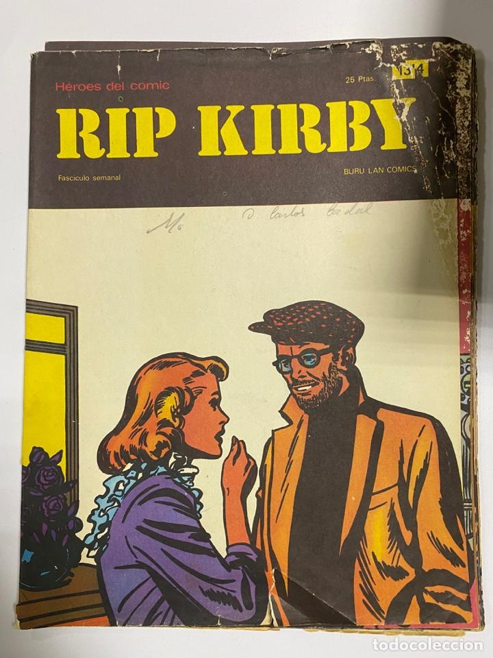 RIP KIRBY. BURU LAN COMICS. SOLO LAS PORTADAS. TOMO 2. FASCÍCULOS DEL Nº 13 AL 24. VER FOTOS (Tebeos y Comics - Buru-Lan - Rip Kirby)