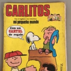 """Cómics: CARLITOS """" CON EL CAPITÁN Y LOS CEBOLLITAS MI PEQUEÑO MUNDO""""SCHULZ. Lote 242102140"""