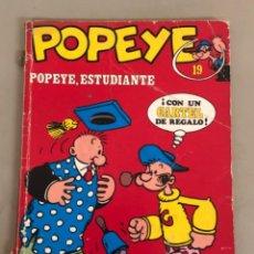 """Cómics: POPEYE """"POPEYE,ESTUDIANTE"""" N 19, ENCUADERNACIÓN EN RÚSTICA. Lote 242453780"""