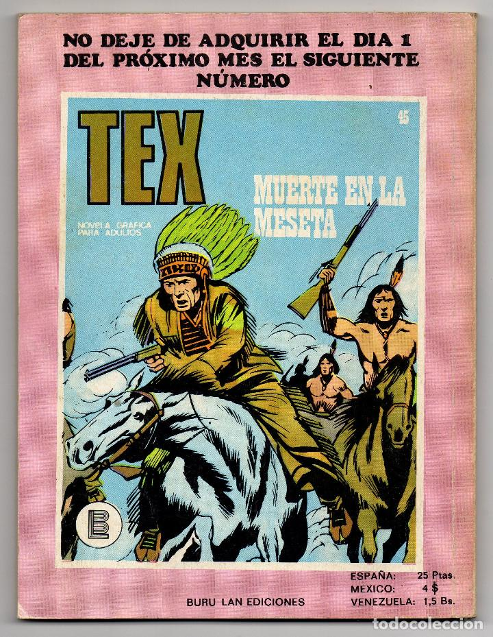 Cómics: TEX nº 44, 46, 49, 51, 54, 56, 57, 60, 61, 65 y 69 (Buru-Lan 1972/73) 11 novelas. - Foto 4 - 243128705