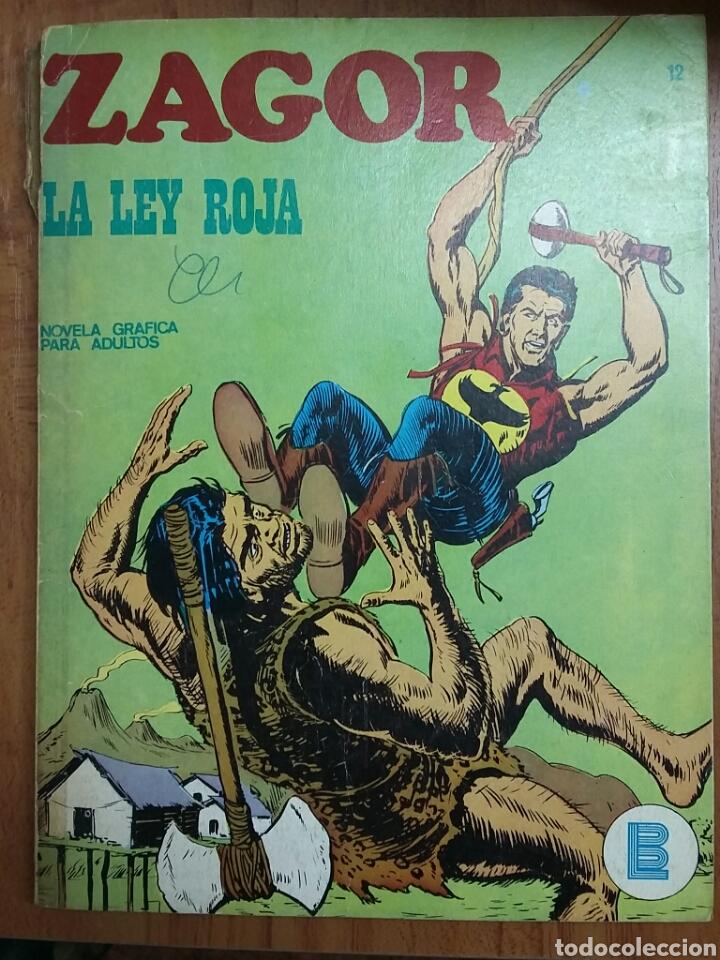 ZAGOR LA LEY ROJA N12 - 1972 NOVELA GRÀFICA (Tebeos y Comics - Buru-Lan - Zagor)