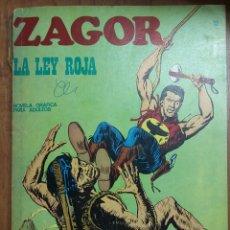 Cómics: ZAGOR LA LEY ROJA N12 - 1972 NOVELA GRÀFICA. Lote 244467075