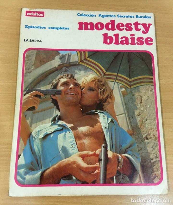 CÓMIC COLECCIÓN AGENTES SECRETOS - MODESTY BLAISE EN LA BARRA. BURU LAN, 1974 (Tebeos y Comics - Buru-Lan - Modesty Blaise)