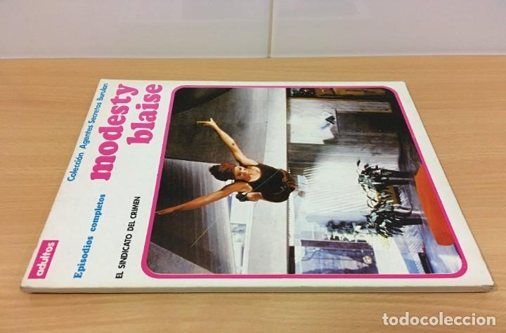 Cómics: CÓMIC COLECCIÓN AGENTES SECRETOS - MODESTY BLAISE EN EL SINDICATO DEL CRIMEN. BURU LAN, 1974 - Foto 2 - 245736950