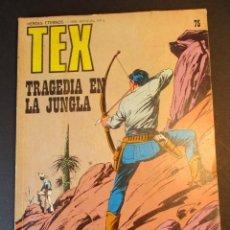 Cómics: TEX (1970, BURU LAN) 75 · 1971 · TRAGEDIA EN LA JUNGLA. Lote 246807890