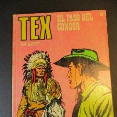 Cómics: TEX (1970, BURU LAN) 65 · 1971 · EL PASO DEL CÓNDOR. Lote 247035170