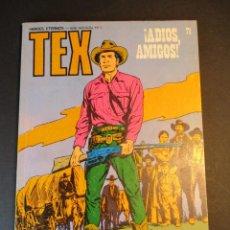 Cómics: TEX (1970, BURU LAN) 71 · 1971 · ¡ADIOS AMIGOS!. Lote 247036585