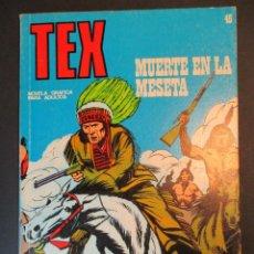 Comics : TEX (1970, BURU LAN) 45 · 1971 · MUERTE EN LA MESETA. Lote 247201540