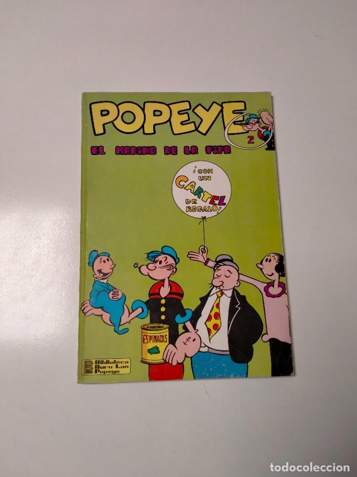 COLECCIÓN POPEYE NÚMERO 2 CON PÓSTER EDICIONES BURU LAN AÑO 1970 (Tebeos y Comics - Buru-Lan - Popeye)