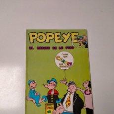 Cómics: COLECCIÓN POPEYE NÚMERO 2 CON PÓSTER EDICIONES BURU LAN AÑO 1970. Lote 249036195