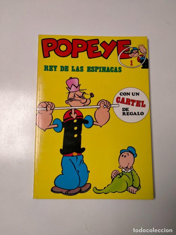 COLECCIÓN POPEYE NÚMERO 1 CON PÓSTER EDICIONES BURU LAN AÑO 1970 (Tebeos y Comics - Buru-Lan - Popeye)