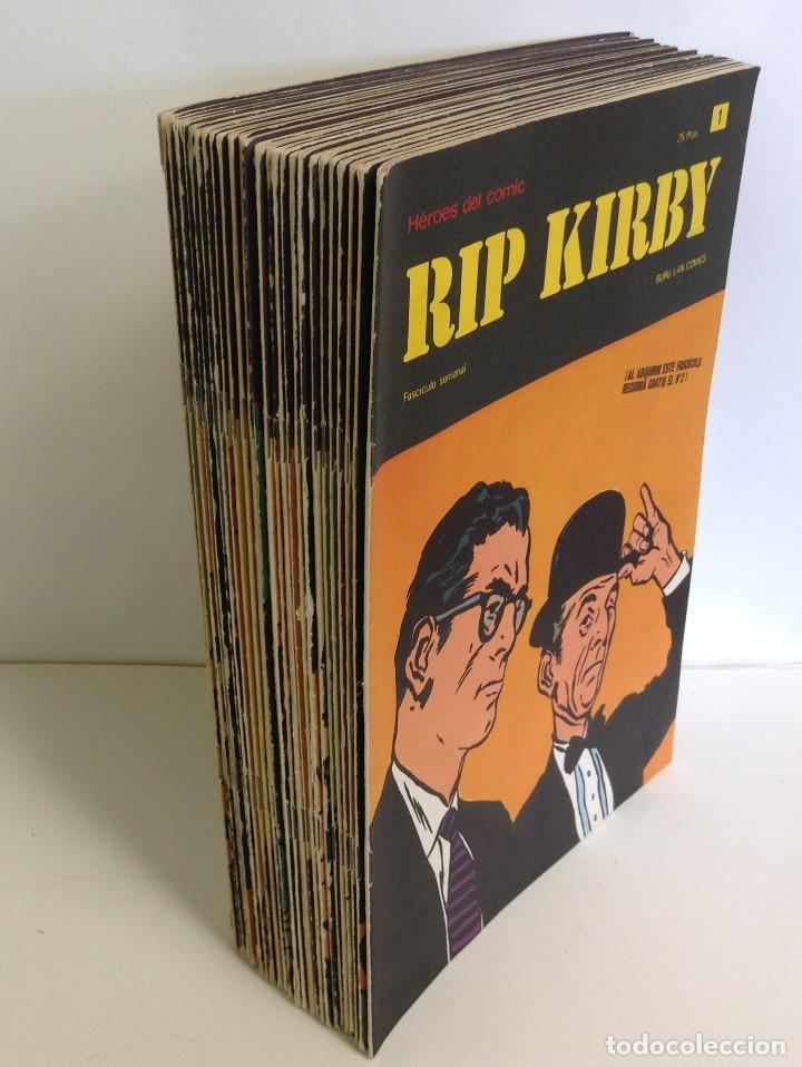 LOTE FASCICULOS HEROES DEL COMIC: RIP KIRBY- ¡27 NUMEROS! 1973 * EDITORIAL BURU LAN COMICS * (Tebeos y Comics - Buru-Lan - Rip Kirby)