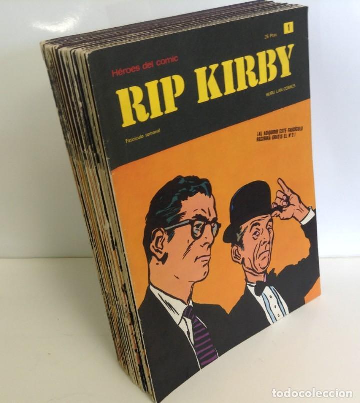 Cómics: LOTE FASCICULOS HEROES DEL COMIC: RIP KIRBY- ¡27 NUMEROS! 1973 * EDITORIAL BURU LAN COMICS * - Foto 2 - 249472685