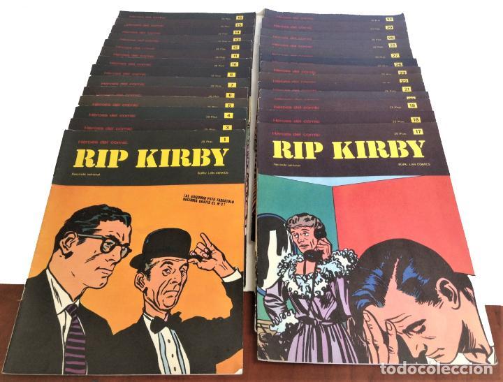 Cómics: LOTE FASCICULOS HEROES DEL COMIC: RIP KIRBY- ¡27 NUMEROS! 1973 * EDITORIAL BURU LAN COMICS * - Foto 4 - 249472685