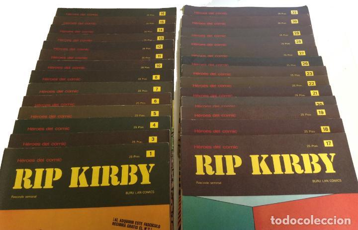 Cómics: LOTE FASCICULOS HEROES DEL COMIC: RIP KIRBY- ¡27 NUMEROS! 1973 * EDITORIAL BURU LAN COMICS * - Foto 5 - 249472685