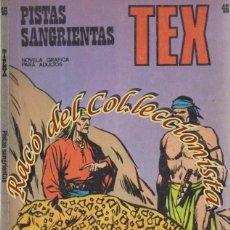 Cómics: TEX Nº 46, PISTAS SANGRIENTAS , EDITORIAL BURU LAN, BURULAN, 1972. Lote 252220060