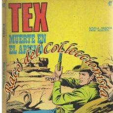 Cómics: TEX Nº 47, MUERTE EN EL ABISMO , EDITORIAL BURU LAN, BURULAN, 1972. Lote 252220150