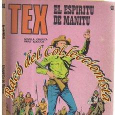Cómics: TEX Nº 48, EL ESPIRITU DE MANITU , EDITORIAL BURU LAN, BURULAN, 1972. Lote 252220275