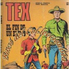 Cómics: TEX Nº 53, EL FIN DE UN EXILIO , EDITORIAL BURU LAN, BURULAN, 1972. Lote 252220430