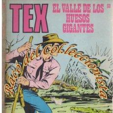Cómics: TEX Nº 60, EL VALLE DE LOS HUESOS GIGANTES , EDITORIAL BURU LAN, BURULAN, 1973. Lote 252220750