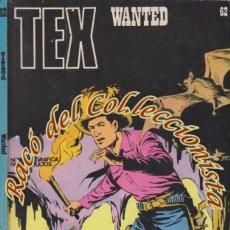 Cómics: TEX Nº 62, WANTED , EDITORIAL BURU LAN, BURULAN, 1973. Lote 252220820