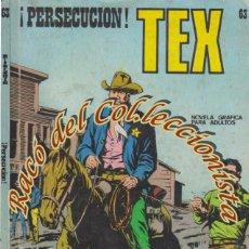 Cómics: TEX Nº 63, PERSECUCION , EDITORIAL BURU LAN, BURULAN, 1973. Lote 252220870