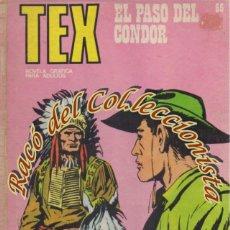 Cómics: TEX Nº 65, EL PASO DEL CONDOR , EDITORIAL BURU LAN, BURULAN,1973. Lote 252221025