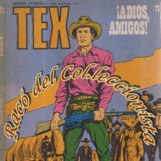 Cómics: TEX Nº 71, ADIOS AMIGOS , EDITORIAL BURU LAN, BURULAN, , 1973. Lote 252221120