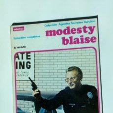 Cómics: MODESTY BLAISE - RETAPADO 4 - EL TRAIDOR - BURU LAN - 1974 - ¡MUY BUEN ESTADO!. Lote 252497660