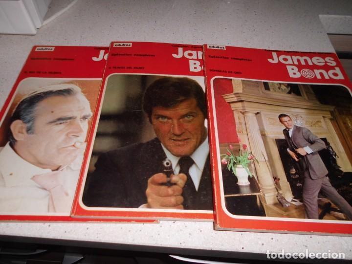 JAMES BOND - 1 AL 5 RETAPADOS , COMPLETA -BURULAN (Tebeos y Comics - Buru-Lan - James Bond)