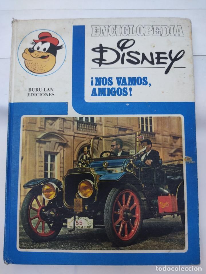 ENCICLOPEDIA DISNEY ¡NOS VAMOS, AMIGOS! EL TRANSPORTE (1972) EDITORIAL BURU LAN. (Tebeos y Comics - Buru-Lan - Otros)