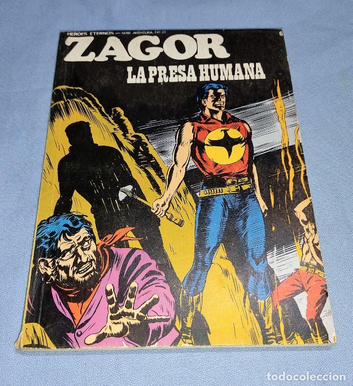ZAGOR LA PRESA HUMANA Nº 61 BURU LAN BURULAN EDICIONES COMPLETO EN MUY BUEN ESTADO (Tebeos y Comics - Buru-Lan - Zagor)