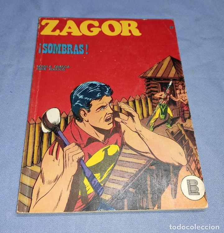 ZAGOR SOMBRAS Nº 24 BURU LAN BURULAN EDICIONES COMPLETO EN MUY BUEN ESTADO (Tebeos y Comics - Buru-Lan - Zagor)