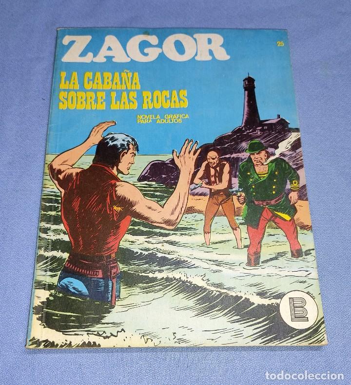 ZAGOR LA CABAÑA SOBRE LAS ROCAS Nº 25 BURU LAN BURULAN EDICIONES COMPLETO EN MUY BUEN ESTADO (Tebeos y Comics - Buru-Lan - Zagor)