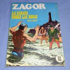 Cómics: ZAGOR LA CABAÑA SOBRE LAS ROCAS Nº 25 BURU LAN BURULAN EDICIONES COMPLETO EN MUY BUEN ESTADO. Lote 256035405