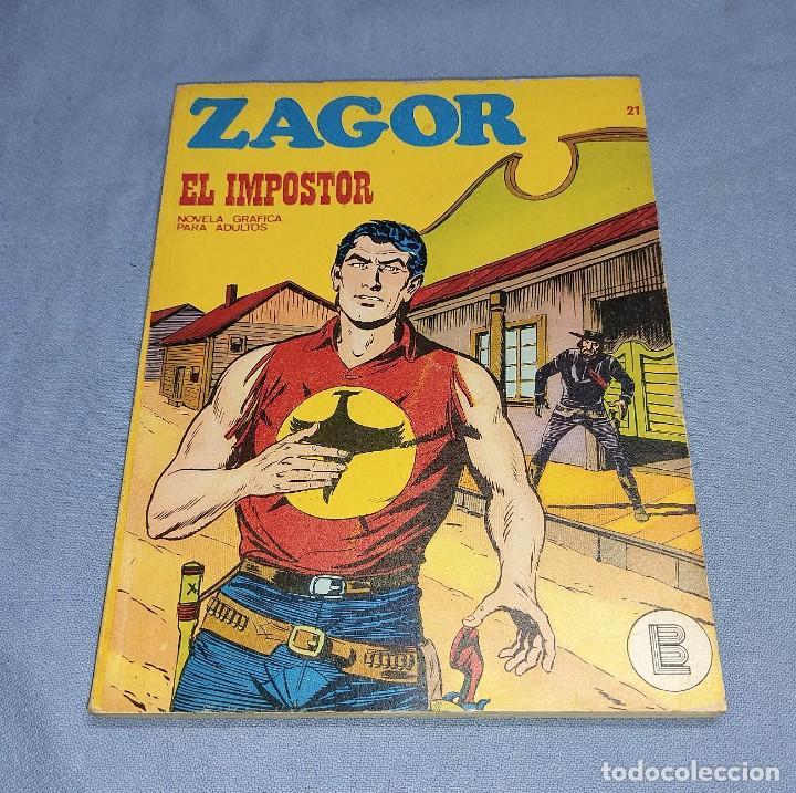 ZAGOR EL IMPOSTOR Nº 21 BURU LAN BURULAN EDICIONES COMPLETO EN MUY BUEN ESTADO (Tebeos y Comics - Buru-Lan - Zagor)