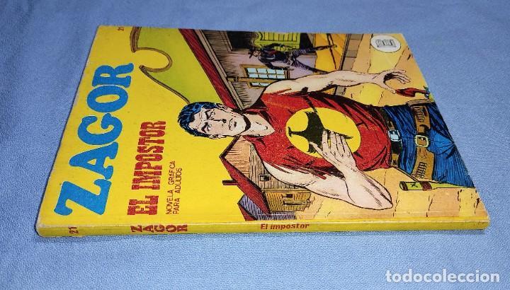 Cómics: ZAGOR EL IMPOSTOR Nº 21 BURU LAN BURULAN EDICIONES COMPLETO EN MUY BUEN ESTADO - Foto 2 - 256036205